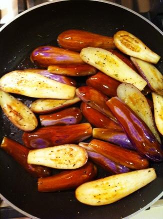 Sautéed Fairy Tale eggplants aux herbes de Provence