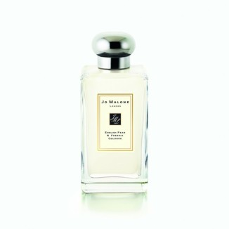 English Pear & Freesia Cologne by Joe Malone Perfect caress of autumn with luscious pear, white freesias,amber, patchouli and spicy woods.