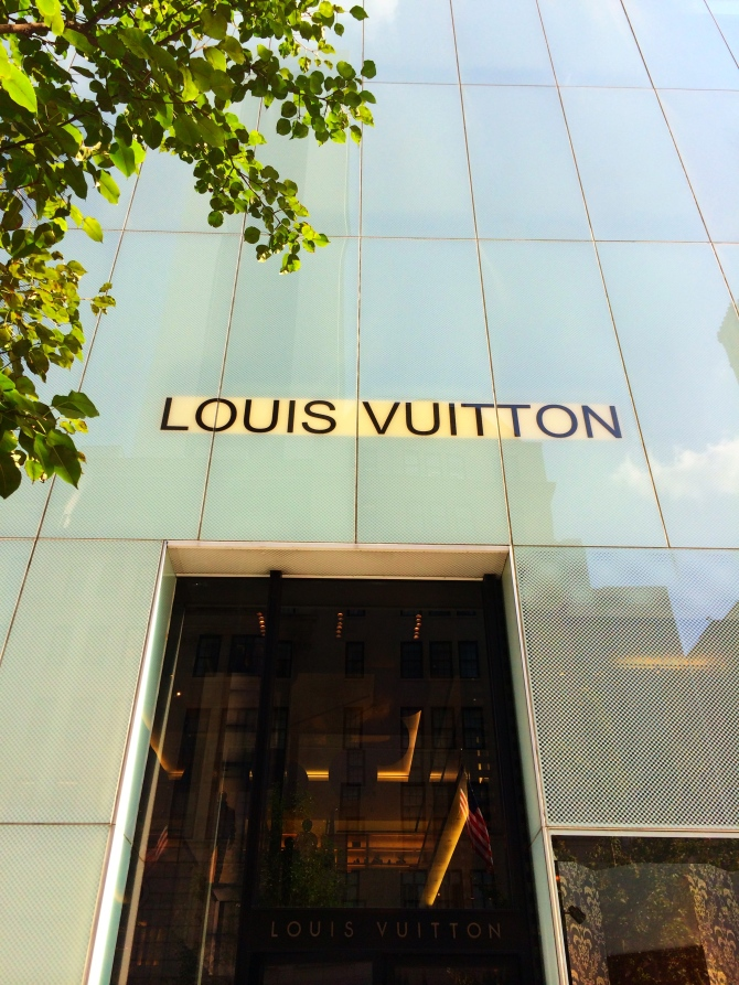 Louis Vuitton on Fifth avenue, New York