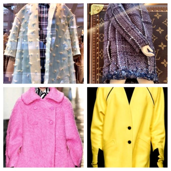 Top left: Celine, Top right: Louis Vuitton, bottom left: Carven, bottom right: Iceberg