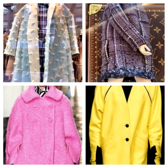 Top left: Celine, Top right: Louis Vuitton, bottom left: Carven, bottom right: Iceberg