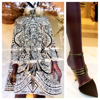 Pucci swing coat and heels