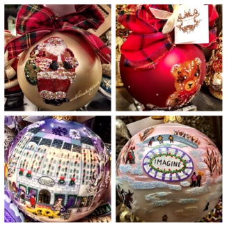 Christmas ornaments at Bergdorf Goodman