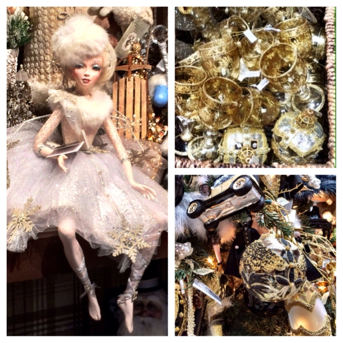 Glitter & gold decoration at Bergdorf Goodman