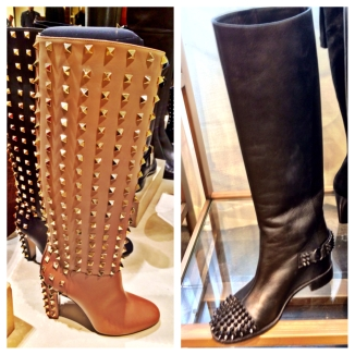 Studded (left: Valentino, right: Christian Louboutin)