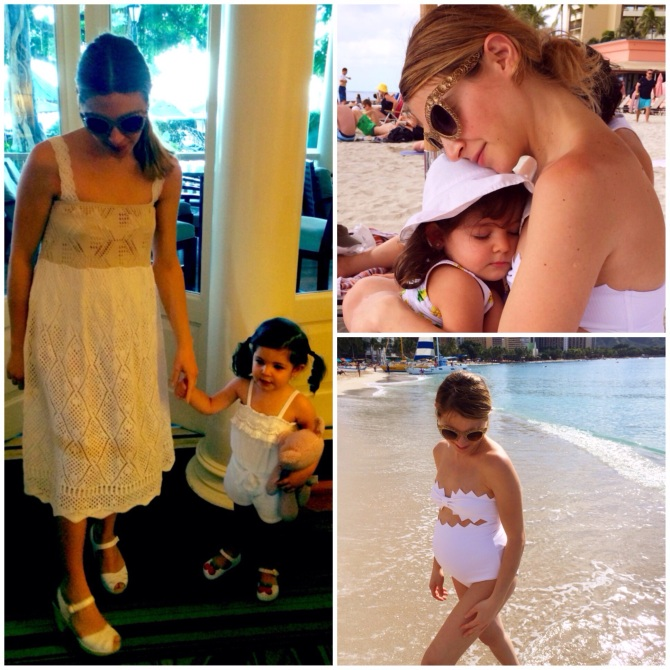 Crochet cover up by ASOS One piece swimsuit by Marysia Swim Sunglasses by Dolce & Gabbana Sandals by Swedish Hasbeens
