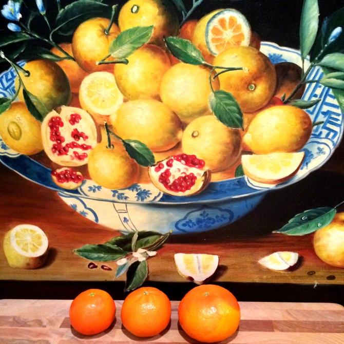 Fruit art in my kitchen